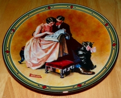 Collector Plate A Couple's Commitment Norman Rockwell American Dream Series