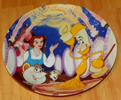 Disney Collector Plate Beauty and the Beast Be Our Guest Out of Stock