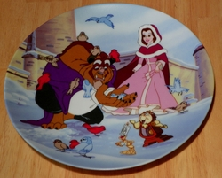 Disney Collector Plate Beauty and the Beast Warming Up Out of Stock