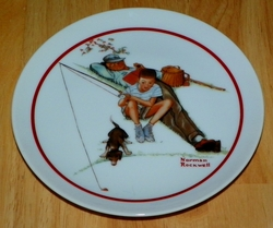 Collector Plate Waiting For Dinner 6 inch Series Name Norman Rockwell