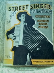 Sheet Music Book The Street Singer (Arthur Tracy)