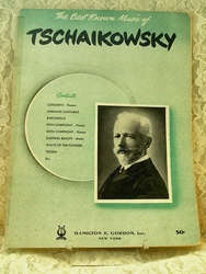 Sheet Music Book The Best Known Music of Tschaikowsky