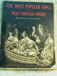 Sheet Music Book The Most Popular Songs from the Most Popular Operas
