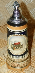 German Beer Stein Musical  DBGM #60 Swiss Movement Music Box Plays Wer Soll Das Bezahlen