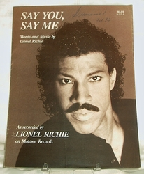 Sheet Music Say You, Say Me Lionel Richie