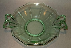Bowl Fostoria Fairfax Green Octagon With Handles