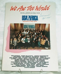 Sheet Music We Are The World Michael Jackson & Lionel Richie