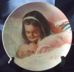 Collector Plate Donald Zolan Sisterly Love Special Issue 1989