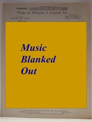 This Is Where I Came In - Sheet Music
