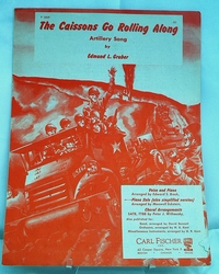 Sheet Music The Caissons Go Rolling Along