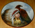 Collector Plate Proud Young Spirits Protector of the Plains