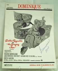 Sheet Music Dominique Debbie Reynolds 1966