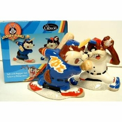 Salt & Pepper Shakers Looney Tunes Taz Batter Up