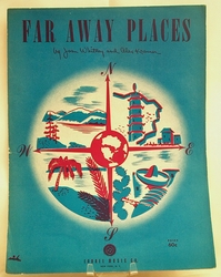Sheet Music Far Away Places