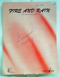 Sheet Music Fire and Rain 1970