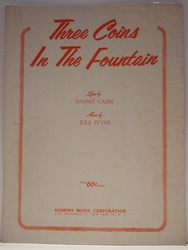 Three Coins In The Fountain - Sheet Music