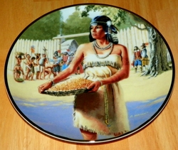 Collector Plate Pocahontas Noble American Indian Women Series