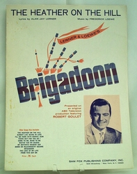 Sheet Music The Heather on the Hill Brigadoon 1947