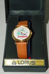 Disney Lorus Watch 35 Years Disneyland Brown Leather Band in Original Box Unused