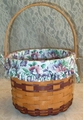 Longaberger 1996 May Sweet Pea Basket Set
