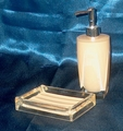 Bath Accessories Set of Two Soap Dish Lotion Dispenser