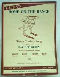 Sheet Music Home on the Range