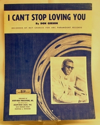 Sheet Music I Can't Stop Loving You Ray Charles 1958