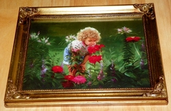 Donald Zolan Miniature Canvas Replica Summer Garden 1993