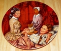 Gone With The Wind Collector Plate Melanie Gives Birth