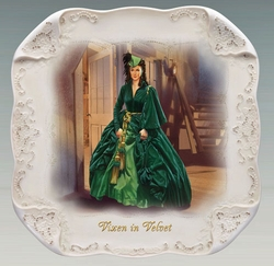 Gone With The Wind White Lace Collector Plate Vixen In Velvet SOLD