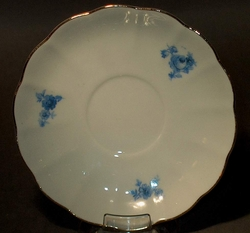 Saucer Arabia Finland Delicate Petite Blue Flowers
