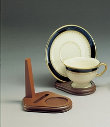 Wood Cup Saucer Stands Sold