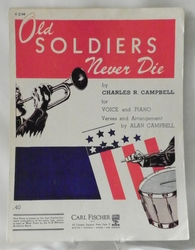 Sheet Music Old Soldiers Never Die 1951