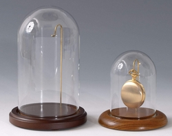 Watch or Small Ornament Dome With Wire Walnut Base 3 X 4 1/4 Out of Stock