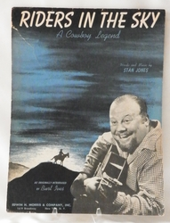 Sheet Music Riders in the Sky 1949