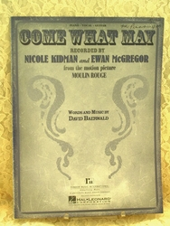 Sheet Music Come What May Moulin Rouge