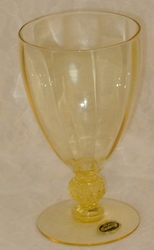 Aurora Mandarin Gold Water Goblet w/label