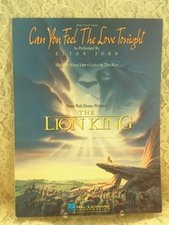 Sheet Music Can You Feel The Love Tonight Lion King