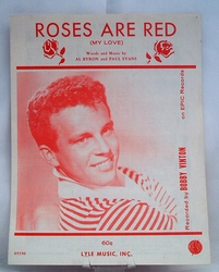 Sheet Music Roses Are Red (My Love) 1961