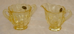 Cambridge Cascade Mandarin Gold Creamer & Sugar