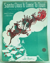 Sheet Music Santa Claus is Comin' To Town