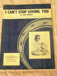 I Can't Stop Loving You Ray Charles - Sheet Music