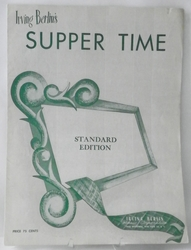 Sheet Music Supper Time 1933