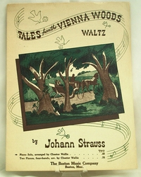 Sheet Music Tales from the Vienna Woods 1939