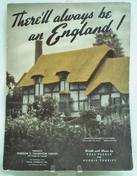 Sheet Music There'll always be an England