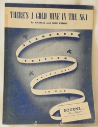 Sheet Music There's a Gold Mine in the Sky 1937