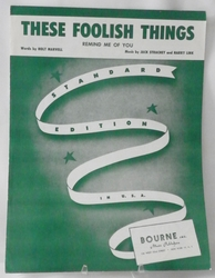 Sheet Music These Foolish Things 1935 SOLD