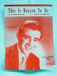 Sheet Music This is Heaven to Me 1929