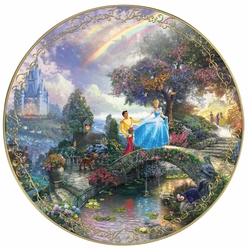 Collector Plate from Thomas Kinkade and Disney Cinderella SOLD