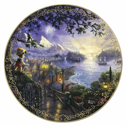 Collector Plate Thomas Kinkade and Disney Pinocchio Wishes Upon A Star SOLD